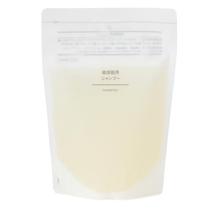 無印「敏感肌用シャンプー」|保湿成分で乾燥肌から頭皮を守る!