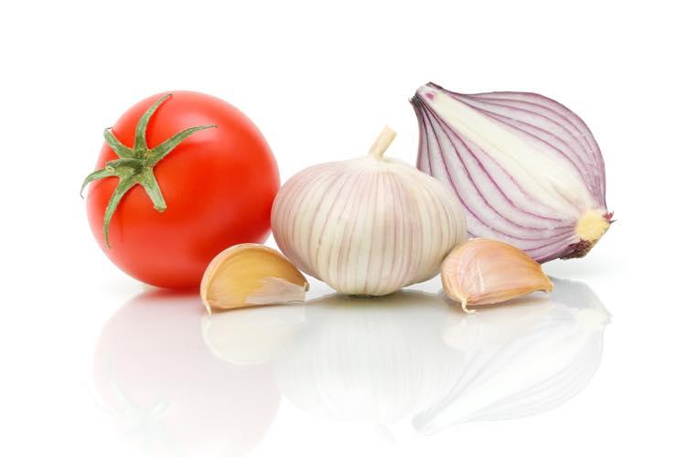 トマトとニンニクと玉ねぎ